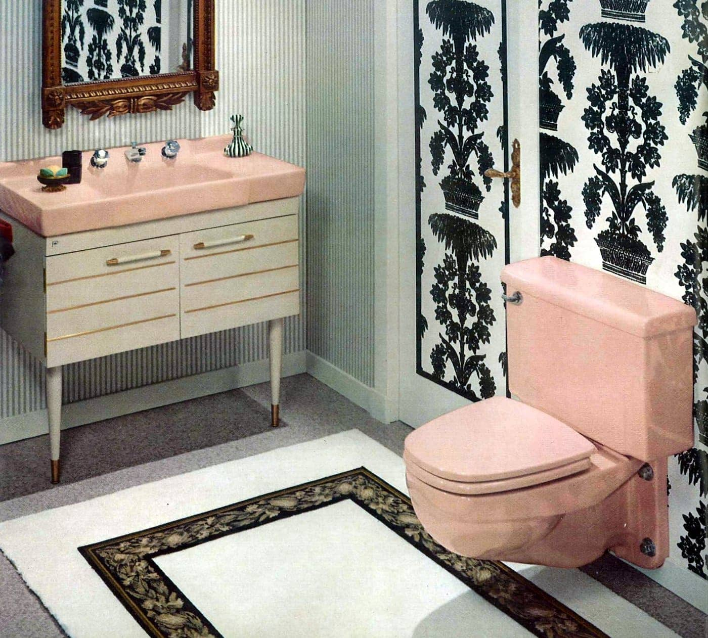 60 Vintage 60s Bathrooms Retro Home Decorating Ideas Click Americana