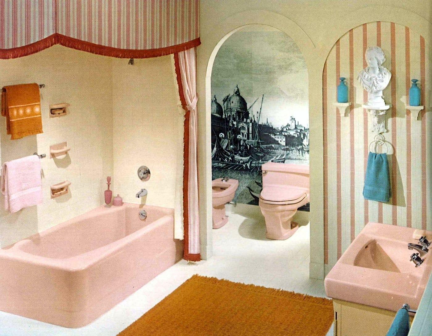 Vintage bathroom style ideas from 1962 (5)