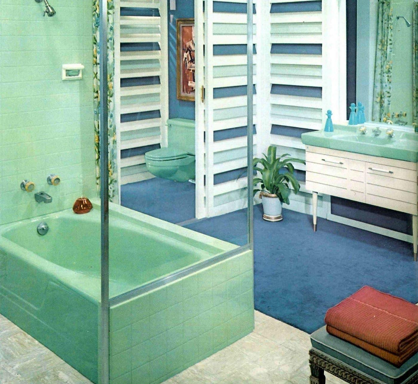 Vintage bathroom style ideas from 1962 (8)