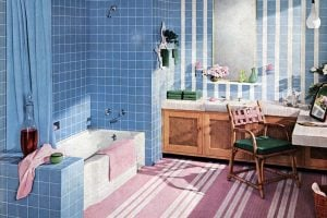 Vintage bathroom tile design ideas from the 1950s and 1960s