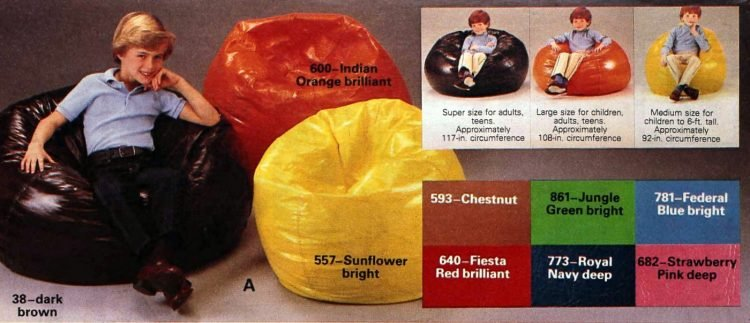 Vintage bean bag chairs for kids