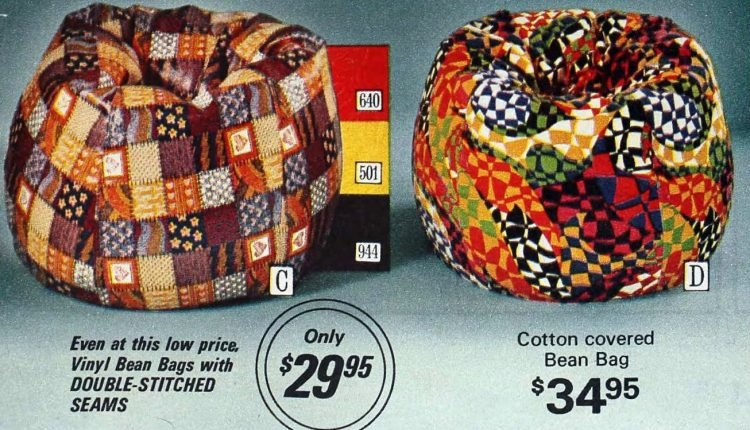 Vintage bean bags from 1974