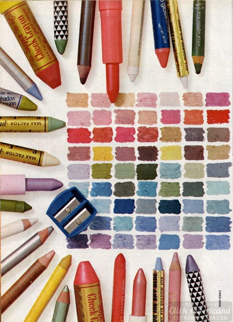 How to use makeup crayons to get a vintage '70s look (1974)