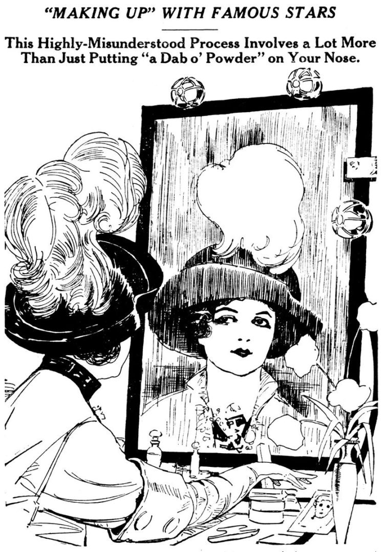 Vintage beauty - Making up with famous stars 1913