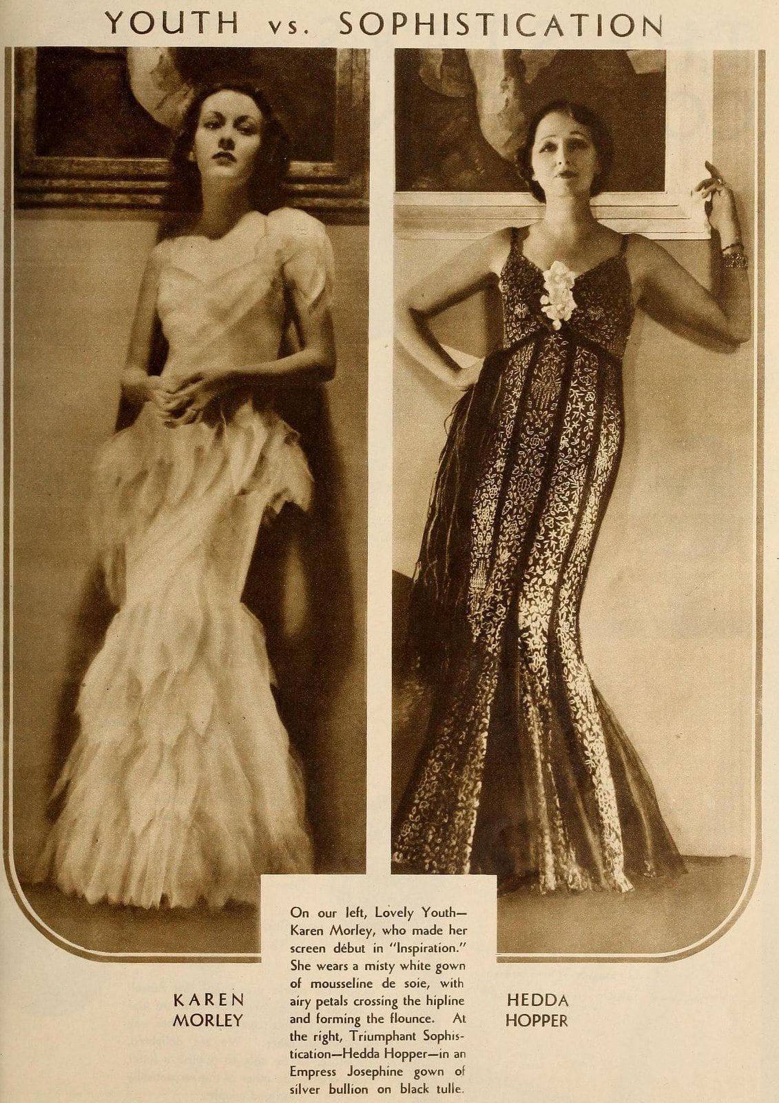 Vintage beauty from 1931 - Youth vs sophistication