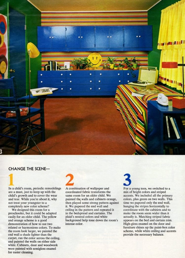 Vintage bedroom decor for kids Change the scene tips from 1972 (1)