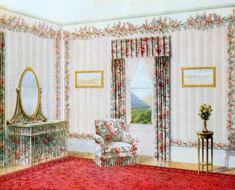 Vintage bedroom decor from the early 1900s (1)