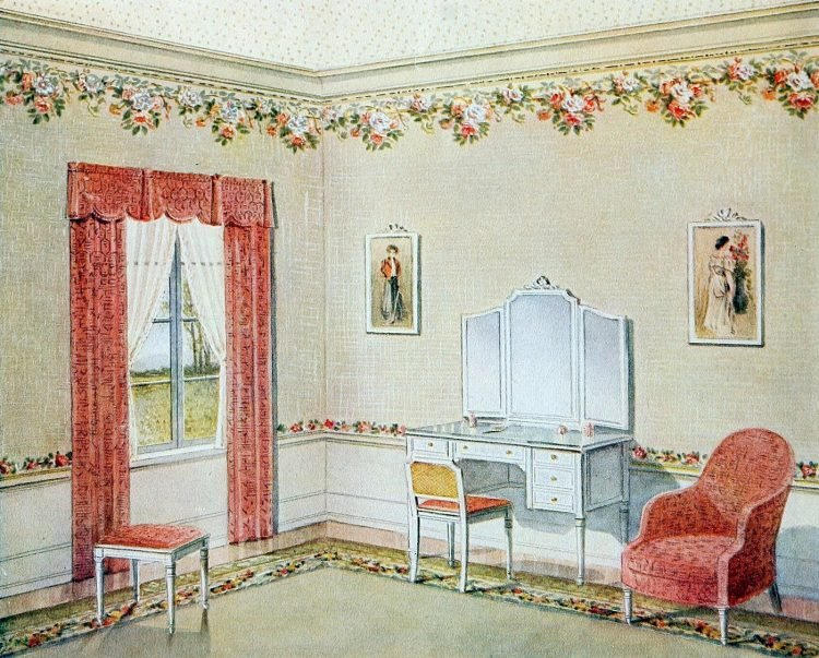 Vintage bedroom decor from the early 1900s (10)