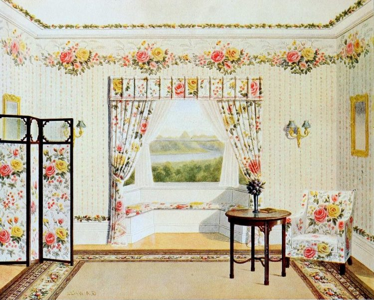 Vintage bedroom decor from the early 1900s (2)