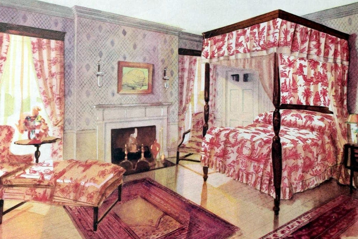 Vintage bedroom decor from the early 1900s (3)