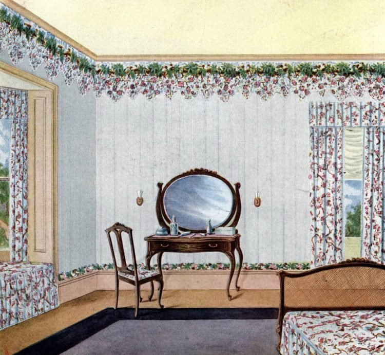 Vintage bedroom decor from the early 1900s (4)