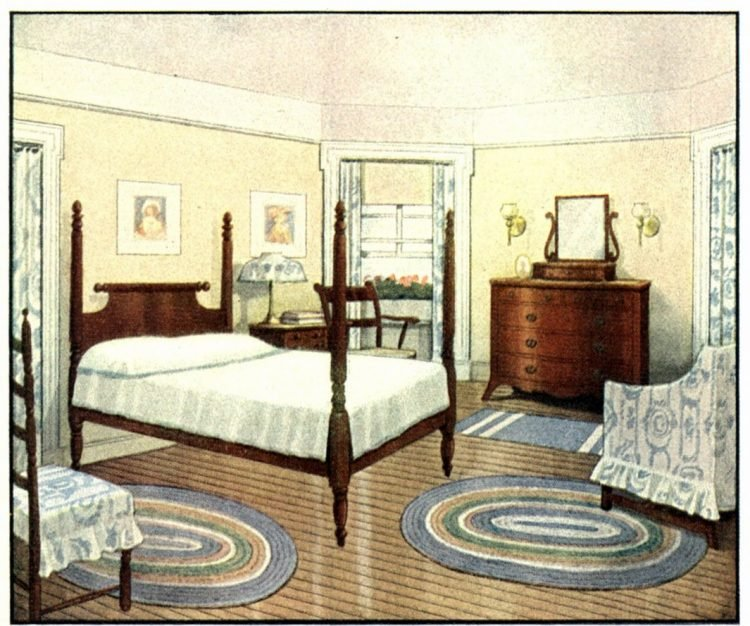 Vintage bedroom decor from the early 1900s (8)