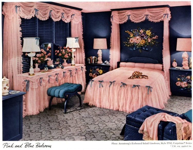 Vintage bedroom redecorating from the 1940s -After