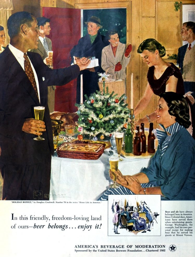 Vintage beer ads from the 1940s - Beer belongs - enjoy it!