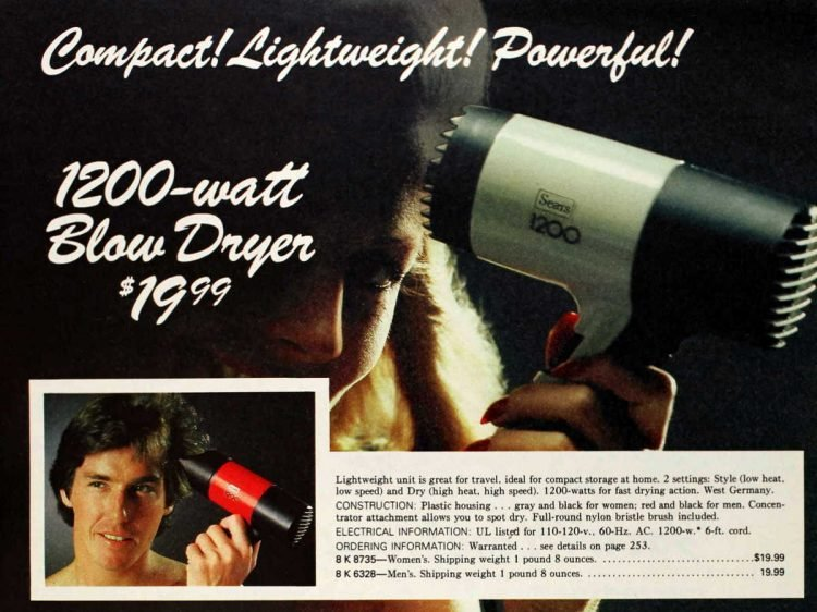 Vintage blow dryer from 1978