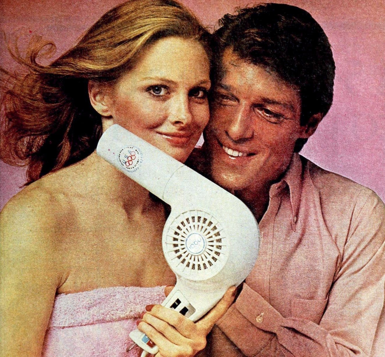 Vintage blow dryers for hair from the 1970s
