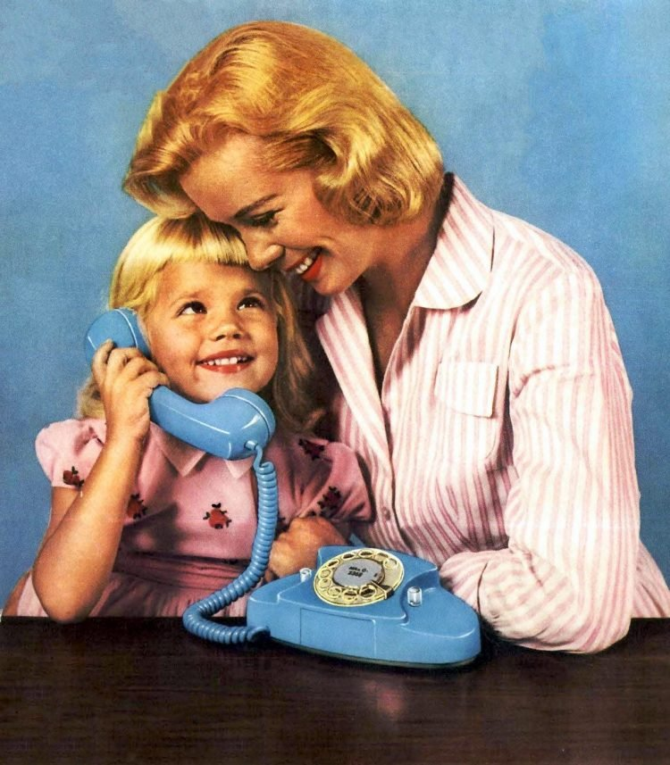 Vintage blue Princess phone from 1959