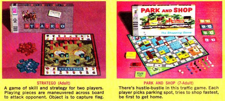 Vintage board games Milton Bradley 1960s - Stratego Park and Shop