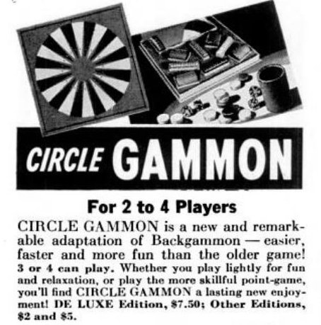 Vintage board games from 1940 - Circle Gammon