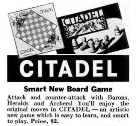 Vintage board games from 1940 - Citadel