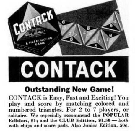 Vintage board games from 1940 - Contack