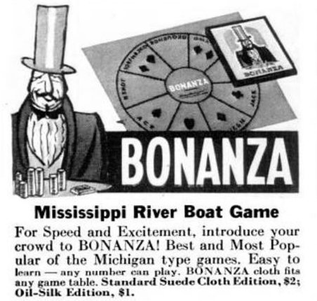 Vintage board games from 1941 - Bonanza