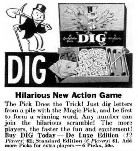 Vintage board games from 1941 - Dig