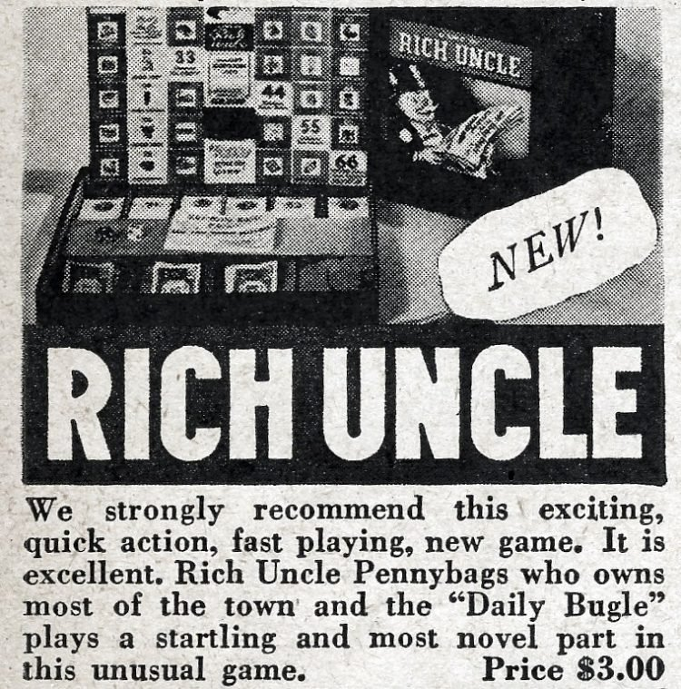 Vintage board games from 1946 - Rich Uncle