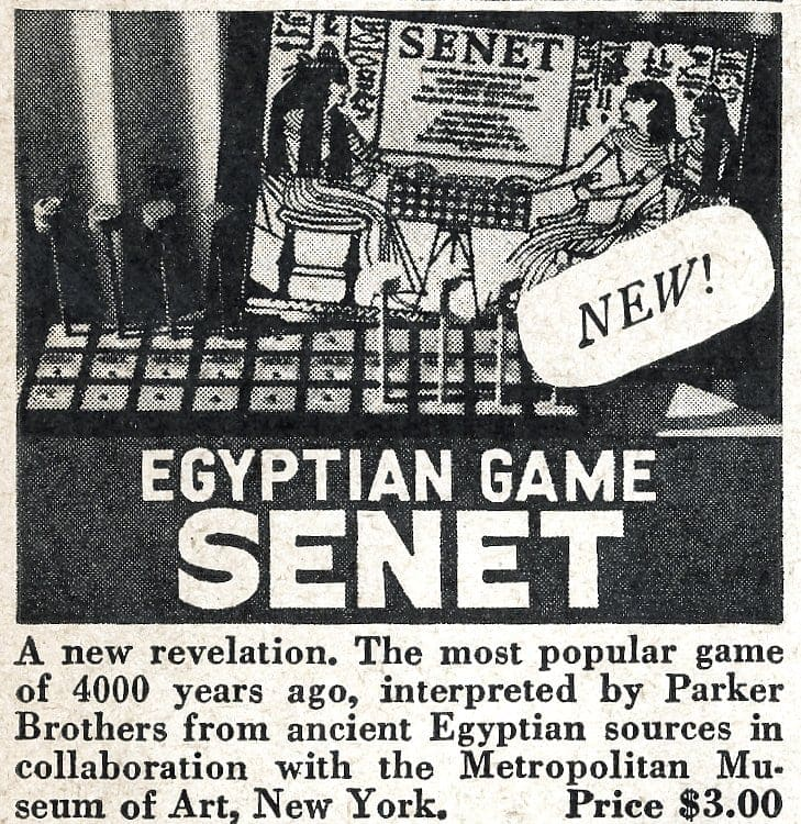 Vintage board games from 1946 - Senet