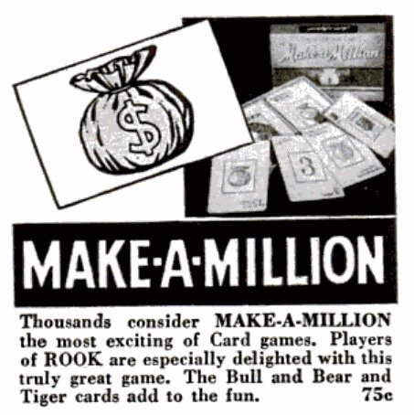 Vintage board games from 1947 - Make-A-Million