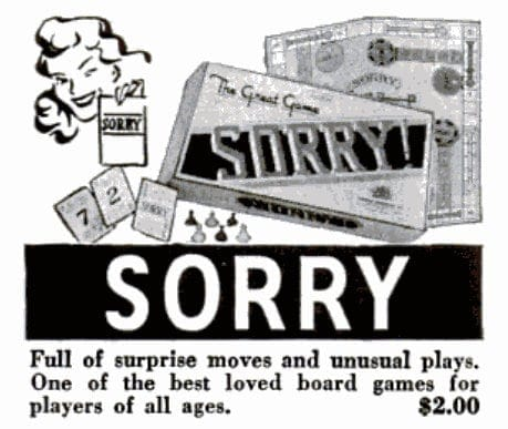Vintage board games from 1947 - Sorry