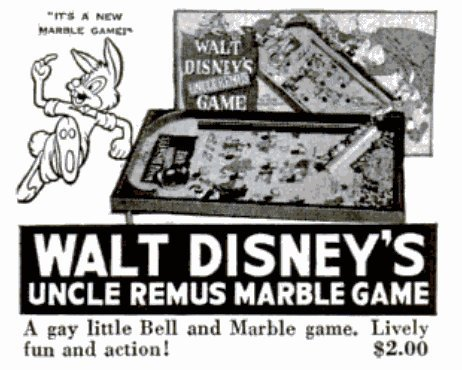 Vintage board games from 1947 - Walt Disney Uncle Remus game