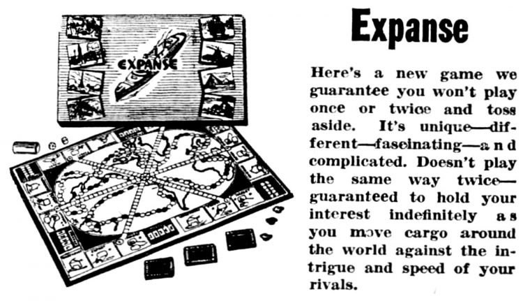 Vintage board games from 1949 - Expanse