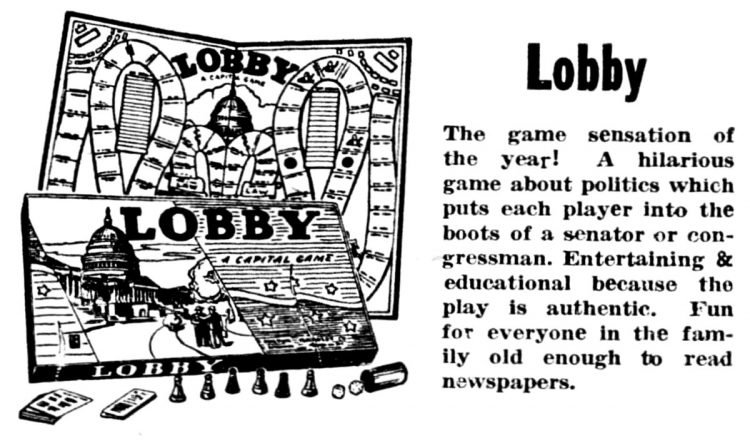 Vintage board games from 1949 - Lobby