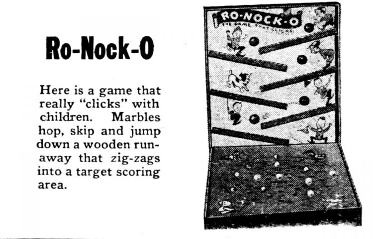 Vintage board games from 1949 - Ro-Nock-O