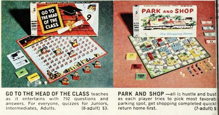 Vintage board games of the 60s - Head Class - Park Shop