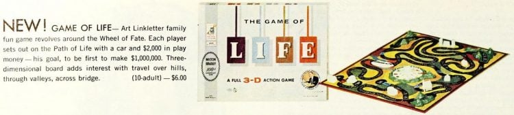 Vintage board games of the 60s - Life
