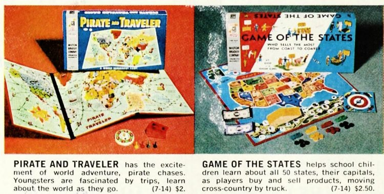 Vintage board games of the 60s - Pirate - Game of the States