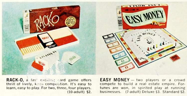 Vintage board games of the 60s - Racko Easy Money