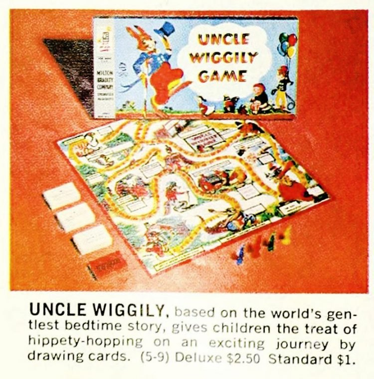Vintage board games of the 60s - Uncle Wiggly 1960