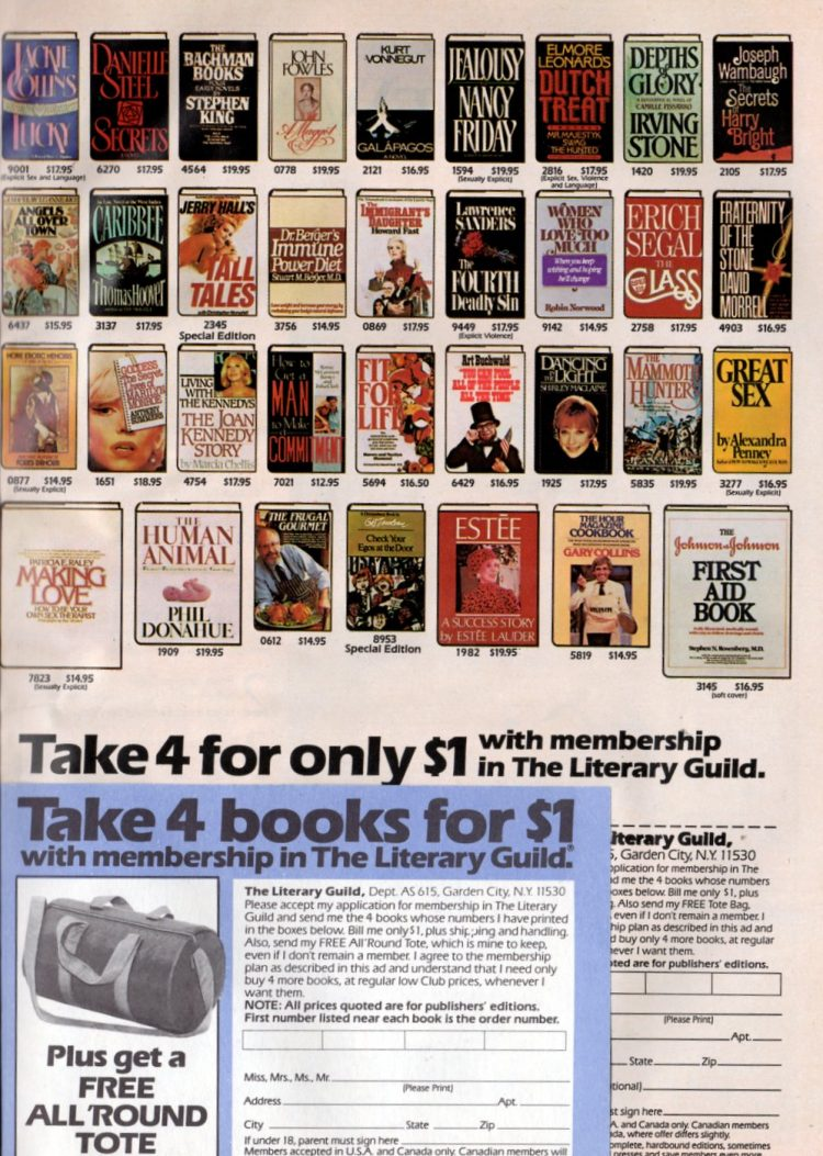 Vintage book clubs - Literary Guild from 1978 (2)
