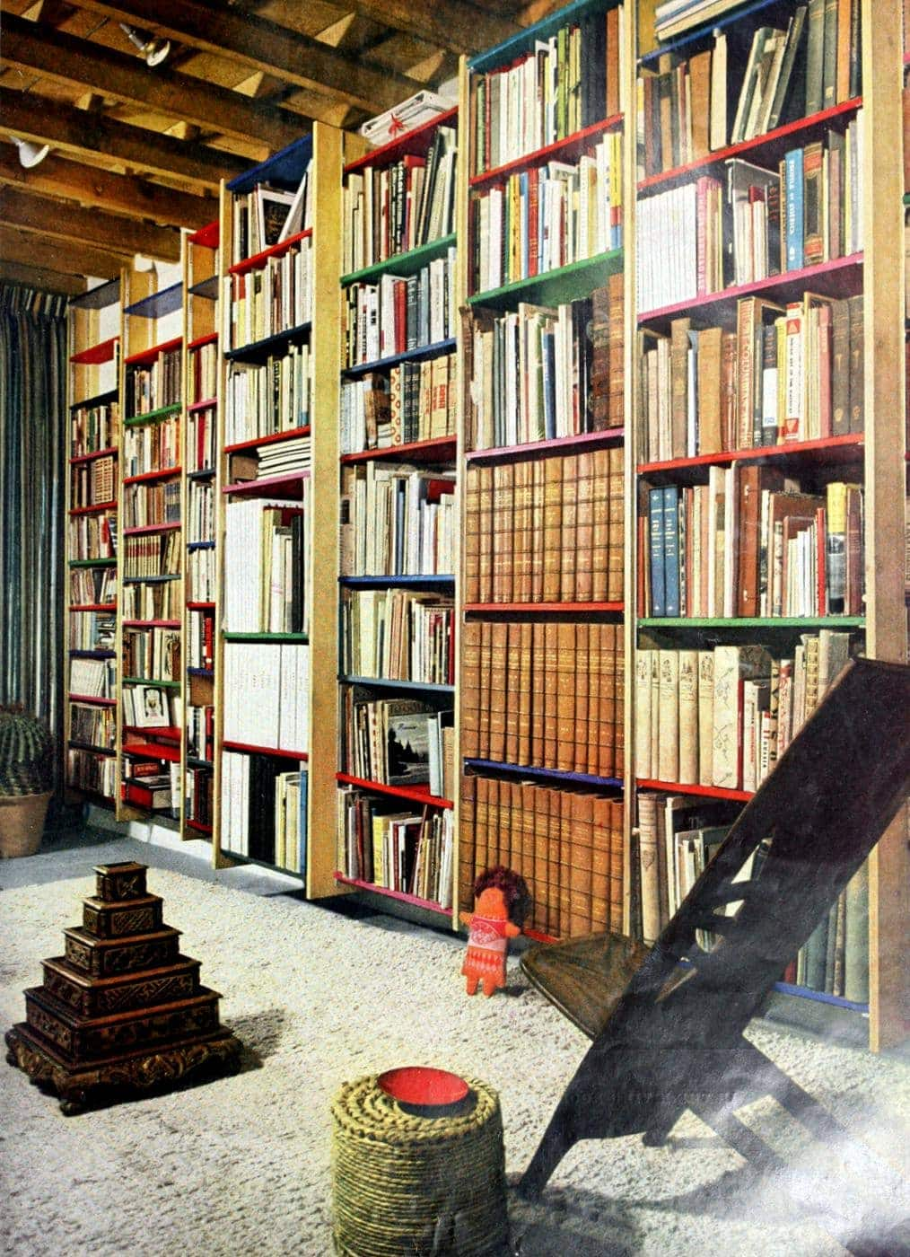 Vintage bookcases from 1959
