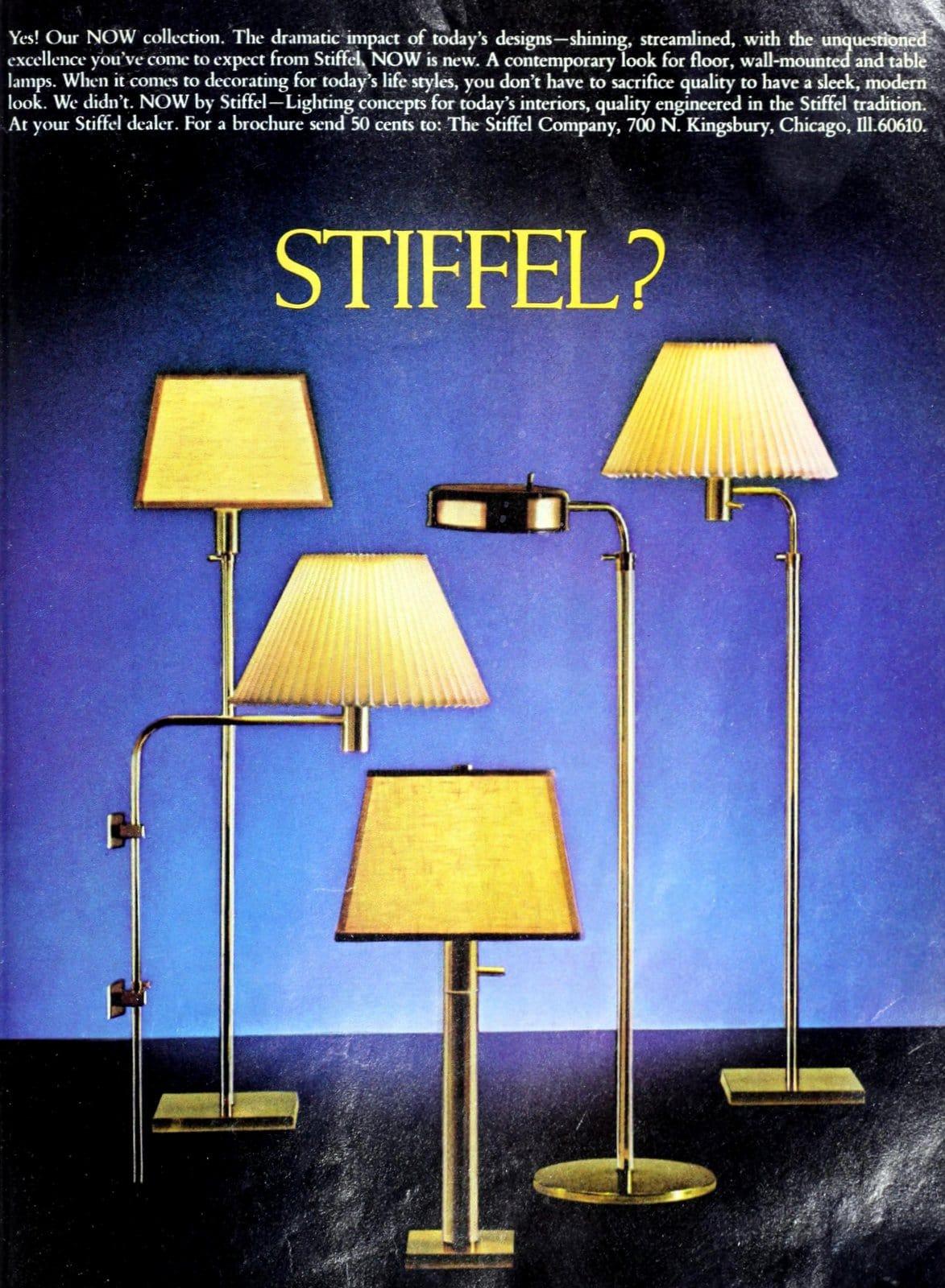 Vintage brass Stiffel lamps (1979)