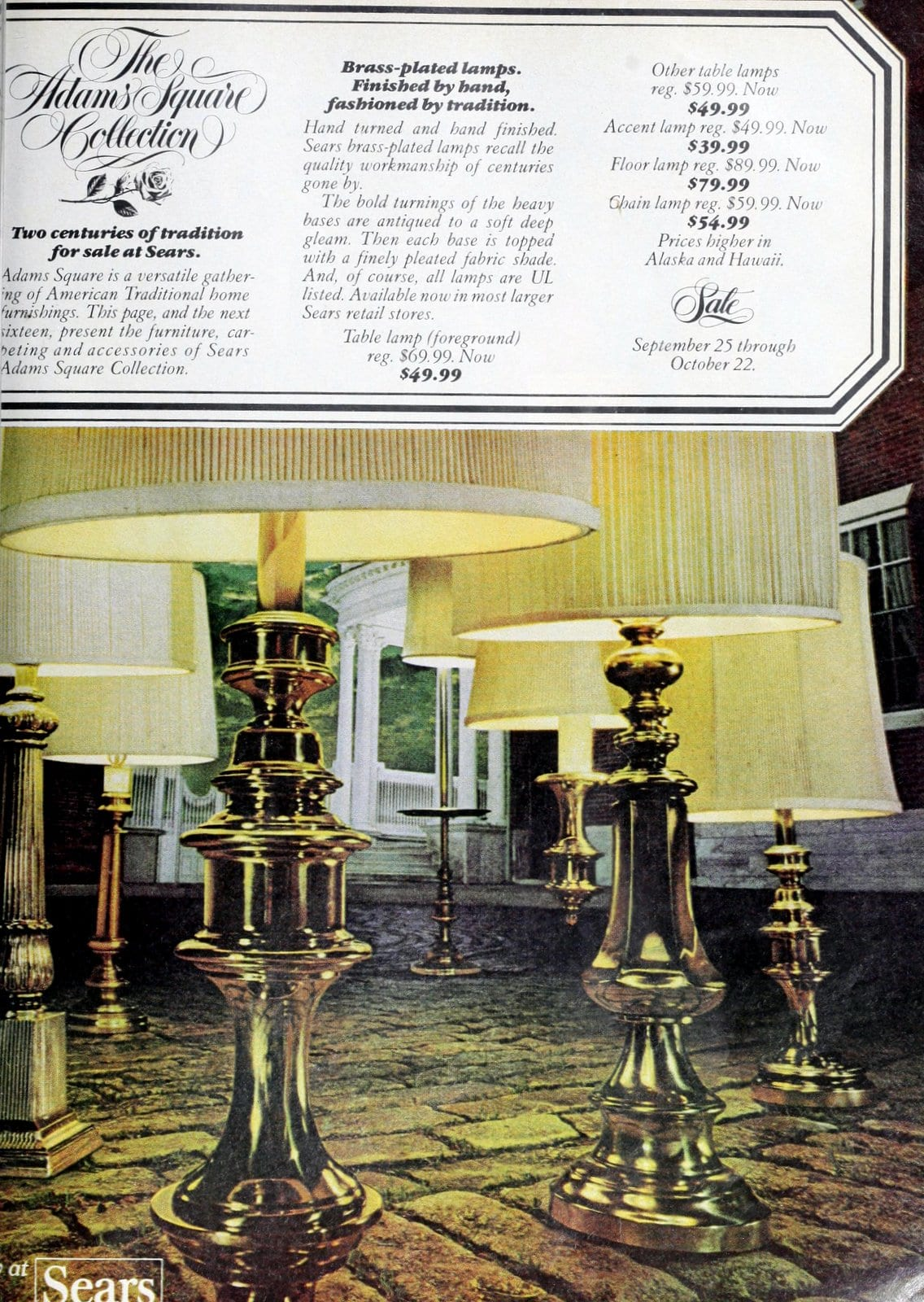 Vintage brass lamp bases - Home decor from 1977