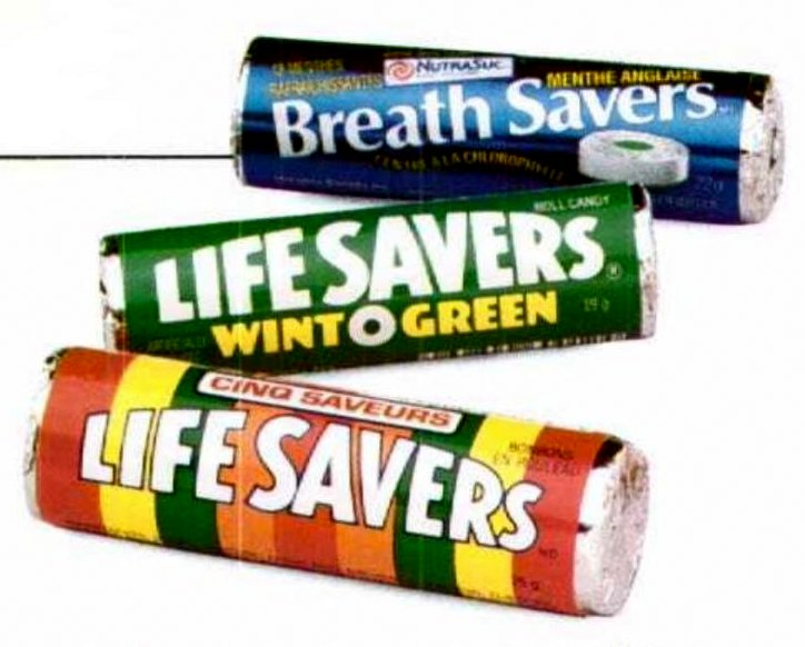 Vintage breath mints and candies - Life Savers and Breath Savers (1988)
