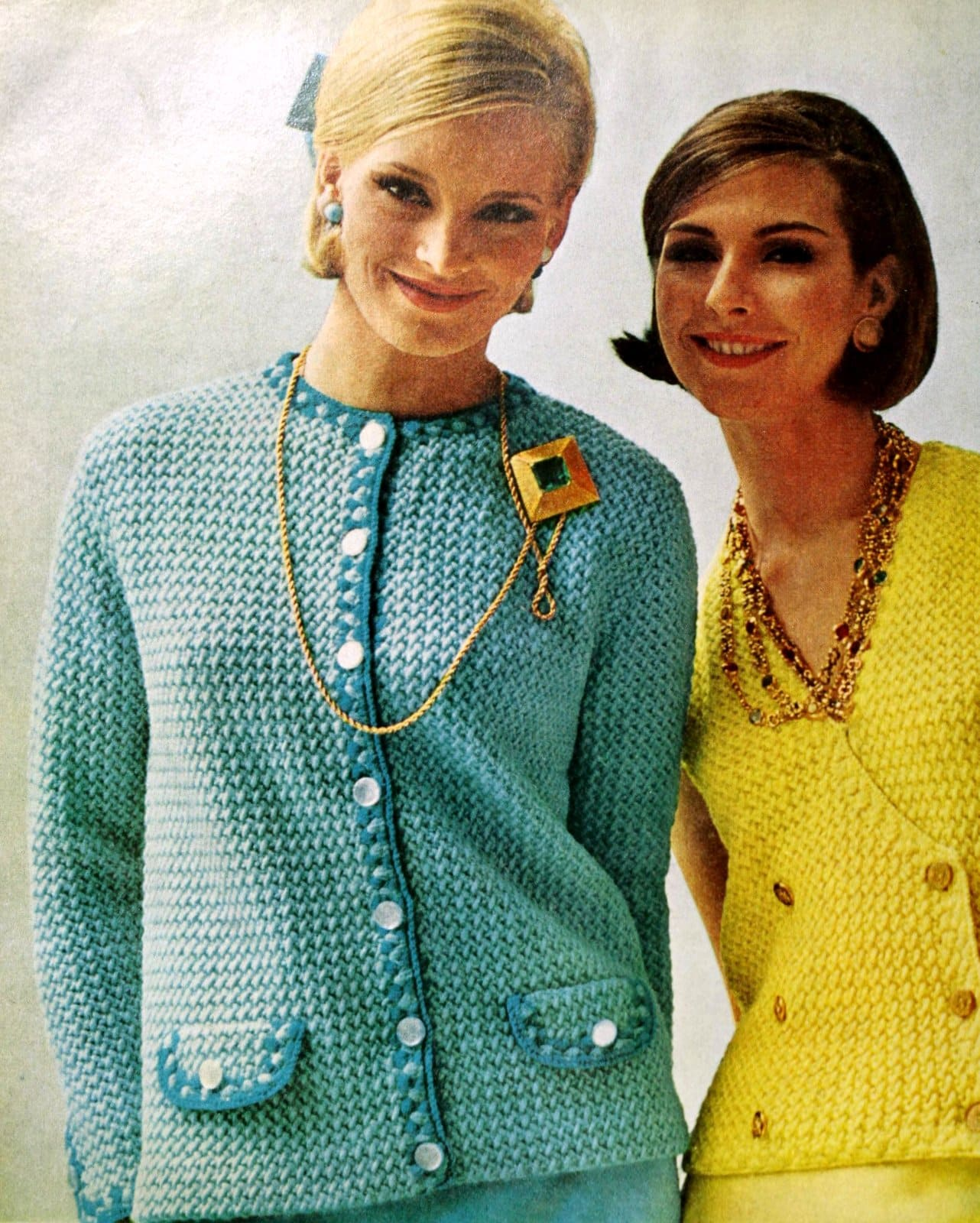 Vintage bright sweater fashions from Jantzen in 1964 (1)
