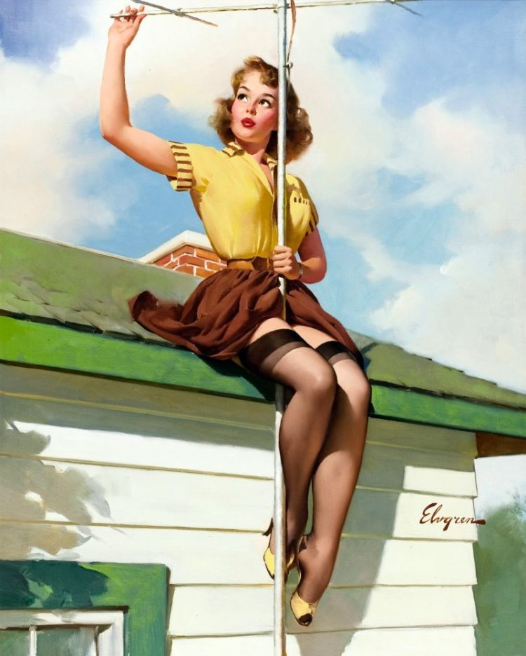 Vintage calendar girl pin-up (1)