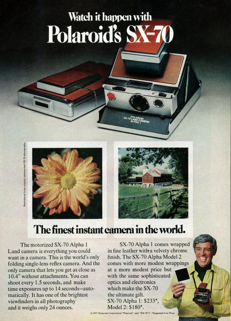 Vintage cameras - Polaroid's SX-70 (1977)