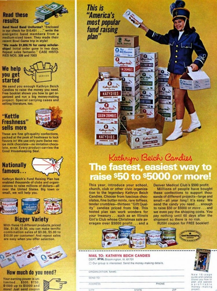 Vintage candy sales for fundraisers in 1970 (2)