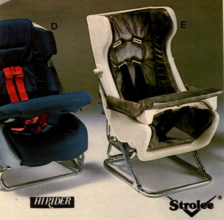 Vintage car baby safety seats from 1983 - kids (1)
